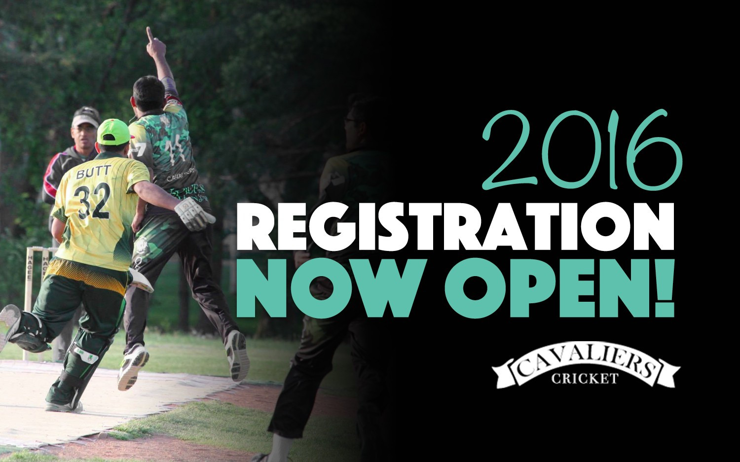 2016 Cavaliers Cricket Player Registration is NOW OPEN!