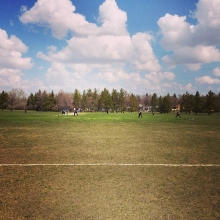 A picture perfect day for cricket in Regina. #reginacricket