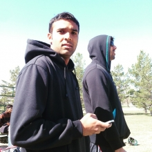 Saini keeping score. #reginacricket