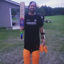 Scored a nice fifty today. Unfortunately it wasn't enough and we still lost the game. We were on track to win until @joeblan25 took a fast ball directly to the groin, and had to retire.  #cricket #laverandwood #yqr #hammercricket #t20 #nutcracker #reginac