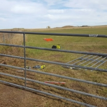 Installing a gate at our new cricket field - October 2nd, 2016