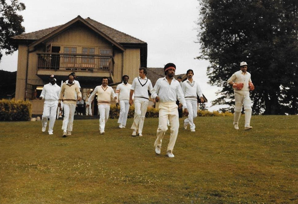 Saskatchewan Cricket history  Cricket Players from the 70s walking from the club house to the cricket field