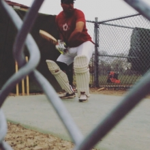 TJ batting in the nets at Douglas park. #reginacavaliers #cricket #reginacricket #shabash