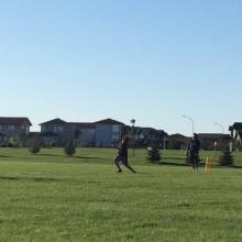 SaskTel Junior Cricket Academy 2016 - Week 1 - Cavaliers teaching kids in Regina how to play cricket.