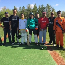 Thanks to the #ReginaCricket Association for the lessons this AM @CTVReginaLive #hooked