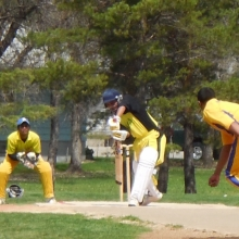Provincial Game - Saskatchewan Versus Manitoba.  TJ and Viru participated and both contributed in two wins in the T20 Games over the weekend.
