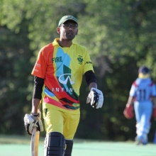Cavaliers Fire vs. Regina Super Kings (RSK) in a pool A T20 match at Douglas park on June 4th, 2017. RSK won by 60 runs!