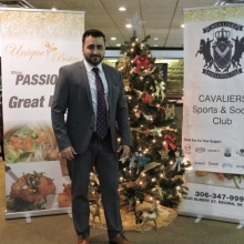 Cavaliers Christmas Party (Awards Dinner) 2015 at Unique Bistro in Regina